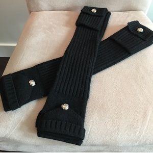 Michael Kors black fingerless mitten gloves
